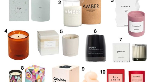 10 Modern Candles That Will Make You Turn the Lights out to Enjoy the Ambience