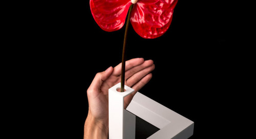 Cuatro Cuatros' 90º Impossible Triangle Vase Is Inspired by the Penrose Triangle
