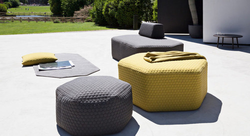 Fun Hexagonal Stools to Create Your Own Outdoor Seating Arrangement