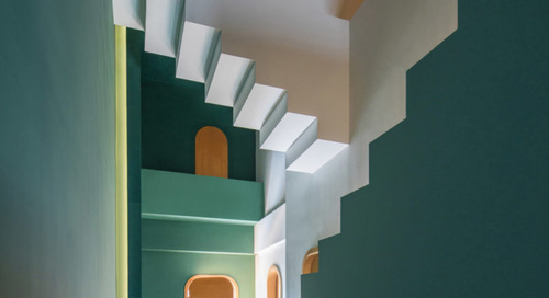 These Surreal Guesthouses with Impossible Staircases Have Alice in Wonderland Vibes