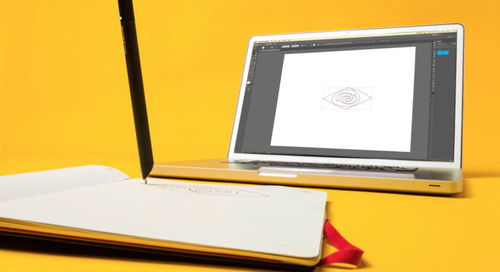Moleskine Instantly Transforms the Hand Drawn into Adobe Illustrator Digital Art