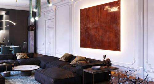 An Eclectic, Monochromatic Apartment in Rouen, France by Dmitry Grinevich