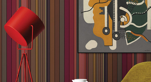 Jupiter 10's Stripe Collection of Wallcoverings Is Bold and Graphic