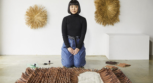 A Curated Exhibition of Basketry, Hand Quilting, and Calligraphy from LOEWE