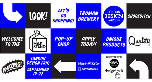 Last Call: Apply to the Milk Stand Pop-Up Shop at London Design Fair 2019!