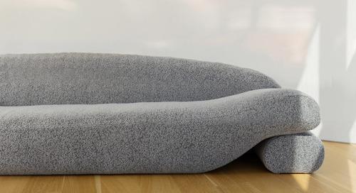 NEA Studio Designed the Beanie Sofa out of Lentils