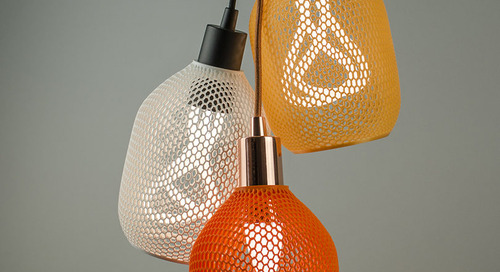 Hive: A Biodegradable 3D-Printed Shade by Plumen