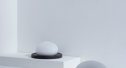 A Modern Lamp That Requires Human Touch to Adjust It