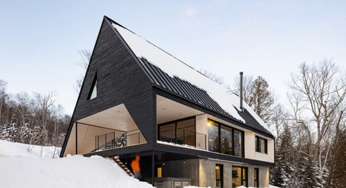 Cabin A: A Dramatic A-Frame Cabin in Québec's Charlevoix Region