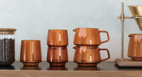 SEPIA Glassware From KINTO Evokes Nostalgia and Comfort
