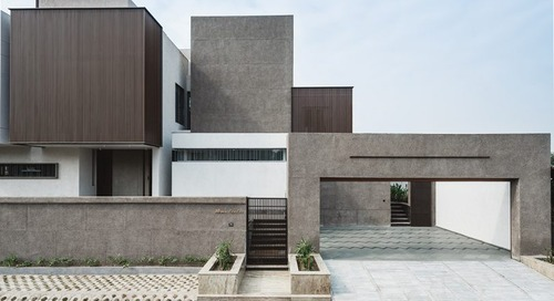 The Sarpanch House Stands out From Its Rural Surroundings