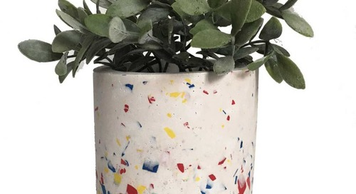 Les Pieds de Biche Brings Geometric Patterns + Fun Colors to Terrazzo