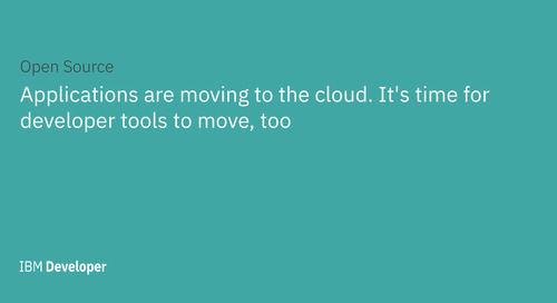 Applications are moving to the cloud. It's time for developer tools to move, too