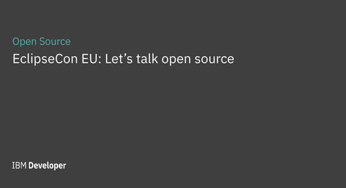 EclipseCon EU: Let's talk open source