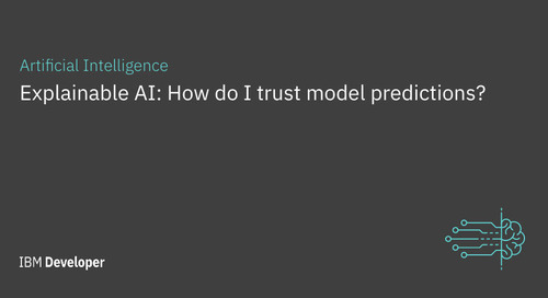 Explainable AI: How do I trust model predictions?
