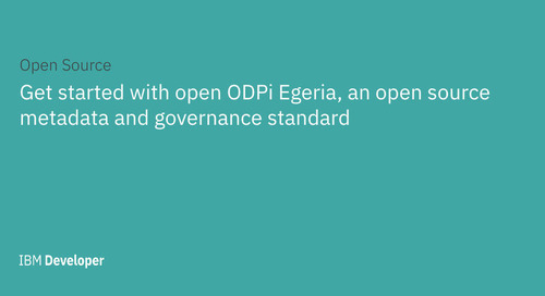 Get started with open source project ODPi Egeria