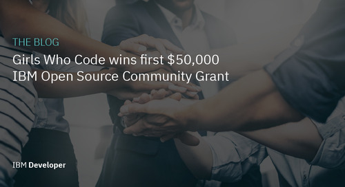 Girls Who Code wins first $50,000 IBM Open Source Community Grant