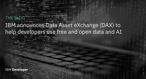 IBM announces Data Asset eXchange (DAX) to help developers use free and open data and AI