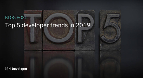 Top 5 developer trends in 2019