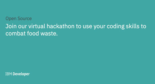 Food Waste Virtual Hackathon: Use your code to combat food waste