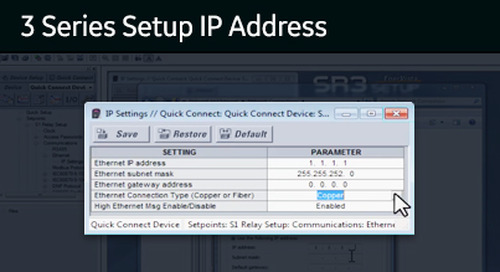 3SP-1002 - 3 Series setup IP address