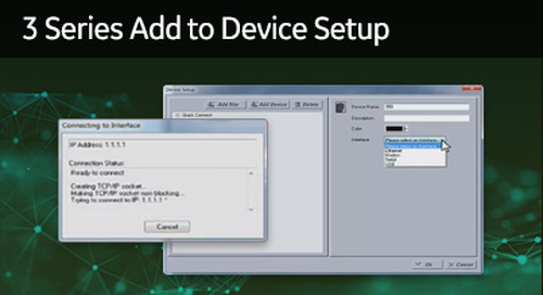 3SP-1003 - 3 Series add to Device Setup