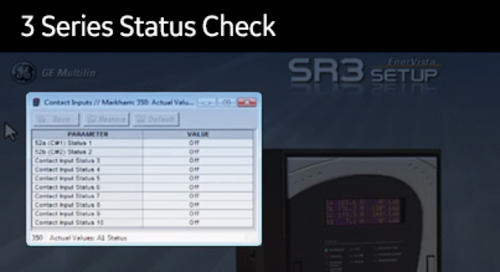 3SP-1004 - 3 Series status check