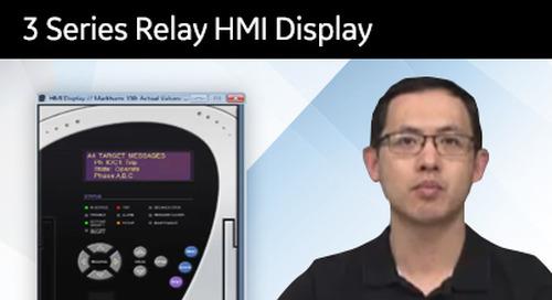 3SP-1010 - 3 Series relay HMI display