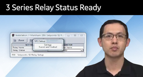 3SP-1011 - 3 Series relay status ready