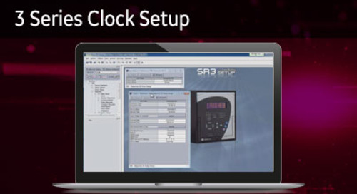 3SP-1012 - 3 Series clock setup