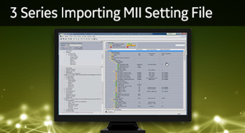 3SP-1022 - 3 Series importing MII setting file