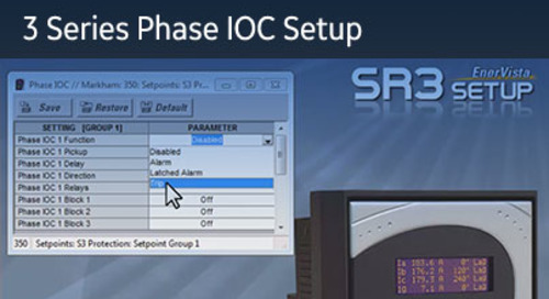 3SP-1025 - 3 Series Phase IOC Setup
