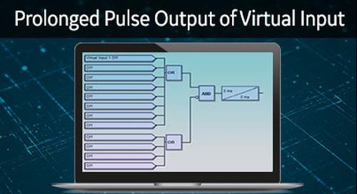 3SP-1031 - 3 Series prolonged pulse output of virtual input