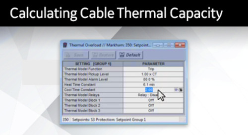 3SP-1040 - Calculating Cable Thermal Capacity