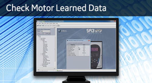 3SP-1043 - Check Motor Learned Data