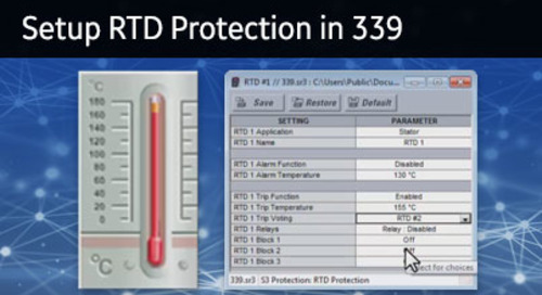 3SP-1051 - Setup RTD Protection in 339