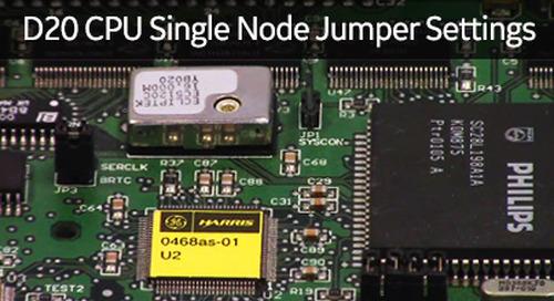 D20-1004 - D20 CPU Single Node Jumper Settings
