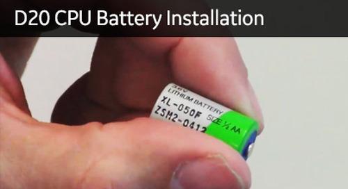 D20-1007 - D20 CPU Battery Installation