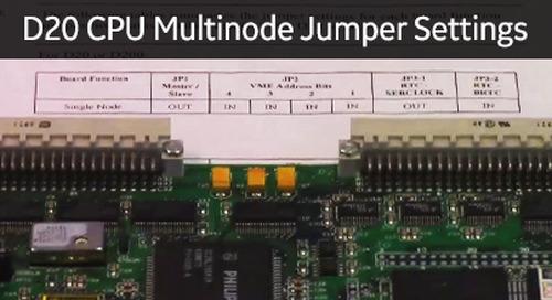 D20-1012 - D20 CPU Multinode Jumper Settings