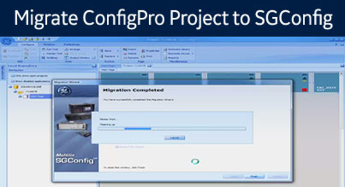D20-1040 - Migrate a ConfigPro Archived Project to SGConfig