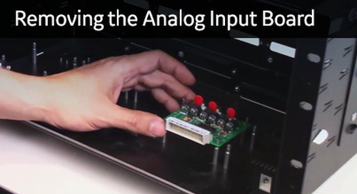 D25-1019 - D25 How2 - Removing the Analog Input board, understanding CT & PT adapter options