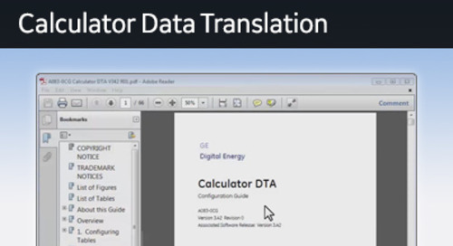 D25-1021 - D25 How 2 - Preparing to configure the Calculator data translation application
