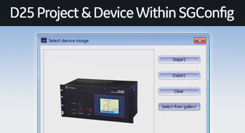 D25-1025 - D25 How 2 - Creating a D25 project and a device within SGConfig