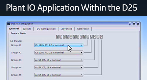 D25-1027 - D25 How 2 - Configuring the plant IO application within the D25 device
