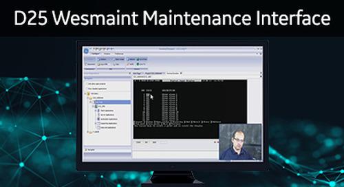 D25-1031 - D25 How 2 - Overview of the D25 wesmaint maintenance interface