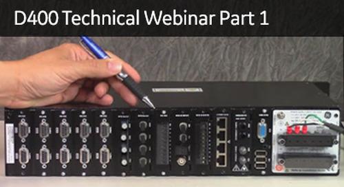 D400-2001 - D400 Technical Webinar Part 1
