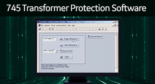 SR-110 - 745 Transformer Protection Software