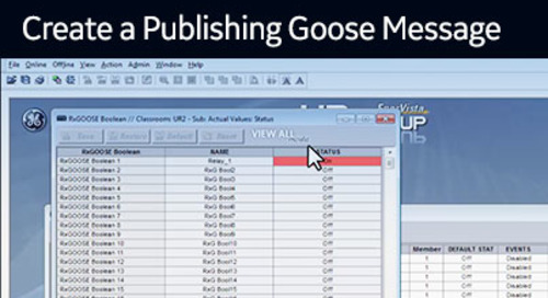 UR-1025 - Create a Publishing GOOSE message