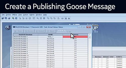 UR-1025 - Create a Publishing GOOSE message