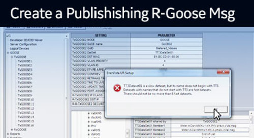 UR-1026 - Create a Publishing R-GOOSE message